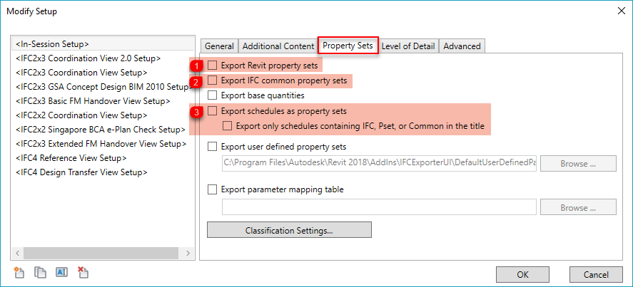 IFC-export in Revit – Rendra